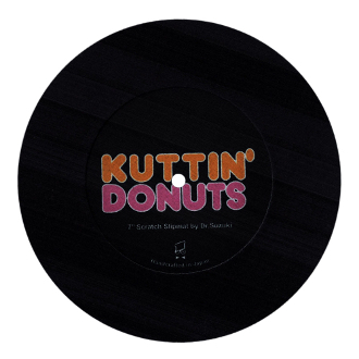 Dr. Suzuki Kuttin Donuts BLACK Slip Mat single
