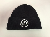 1 Stop DJ Shop Beanie Black w/ White Logo